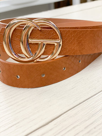 The Latest Trend Crocodile Belt Brown