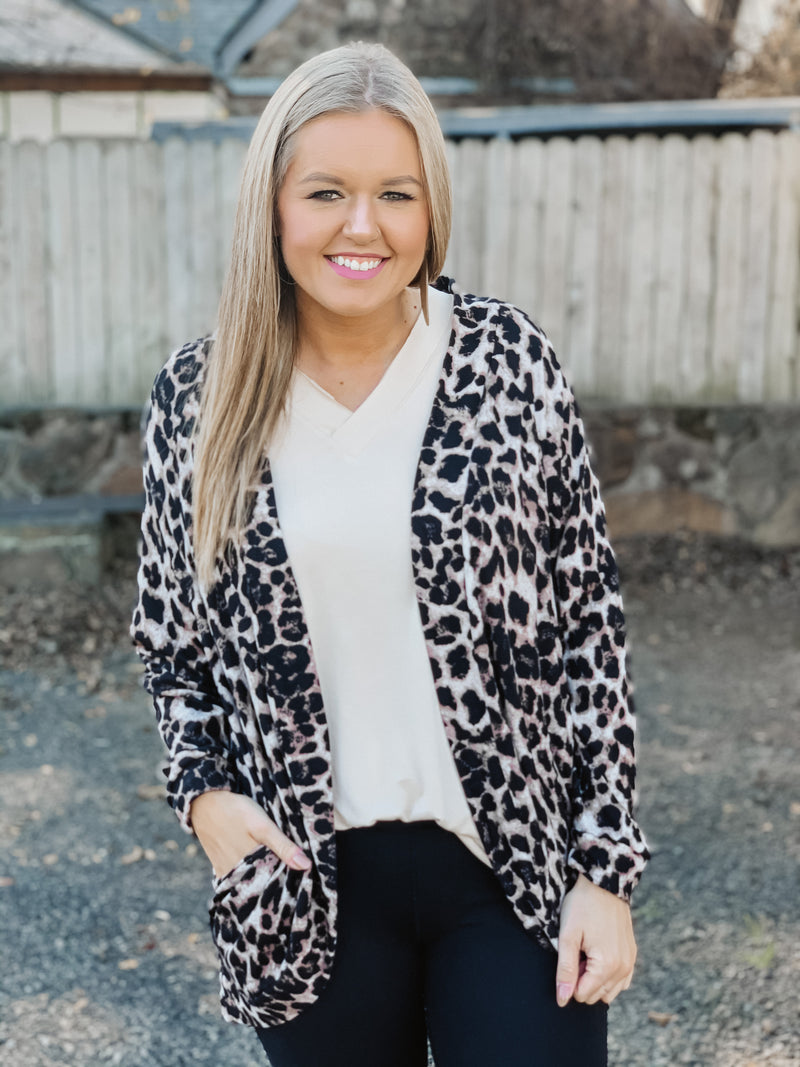 It's Up To You Leopard Cardigan Mocha