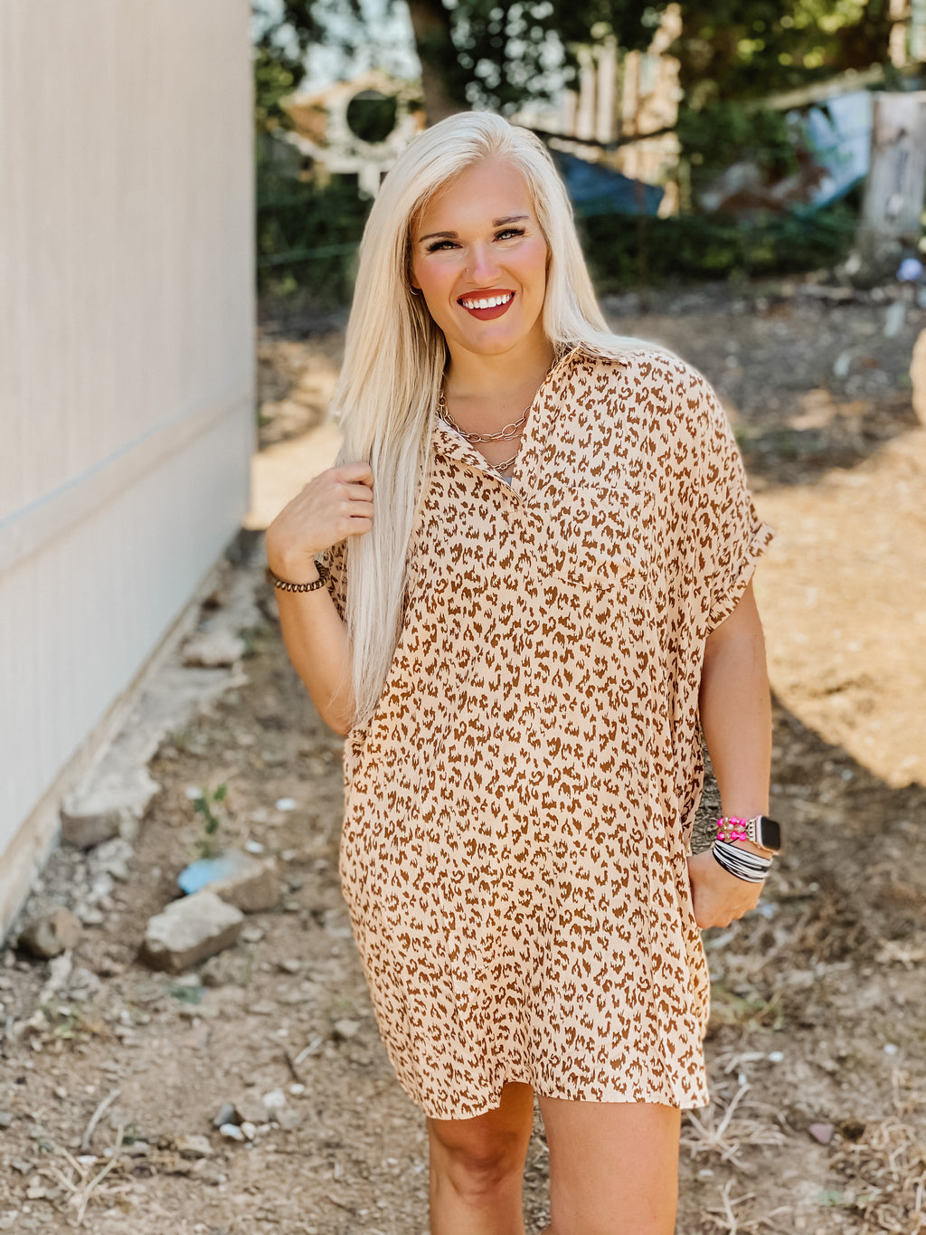 Steal Your Love Leopard Dress
