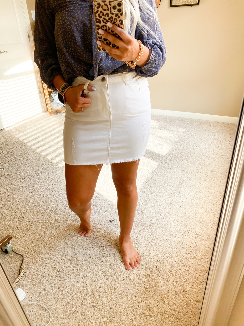 Hollis White Skirt