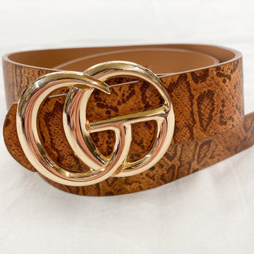 The Latest Trend Snake Belt Cognac