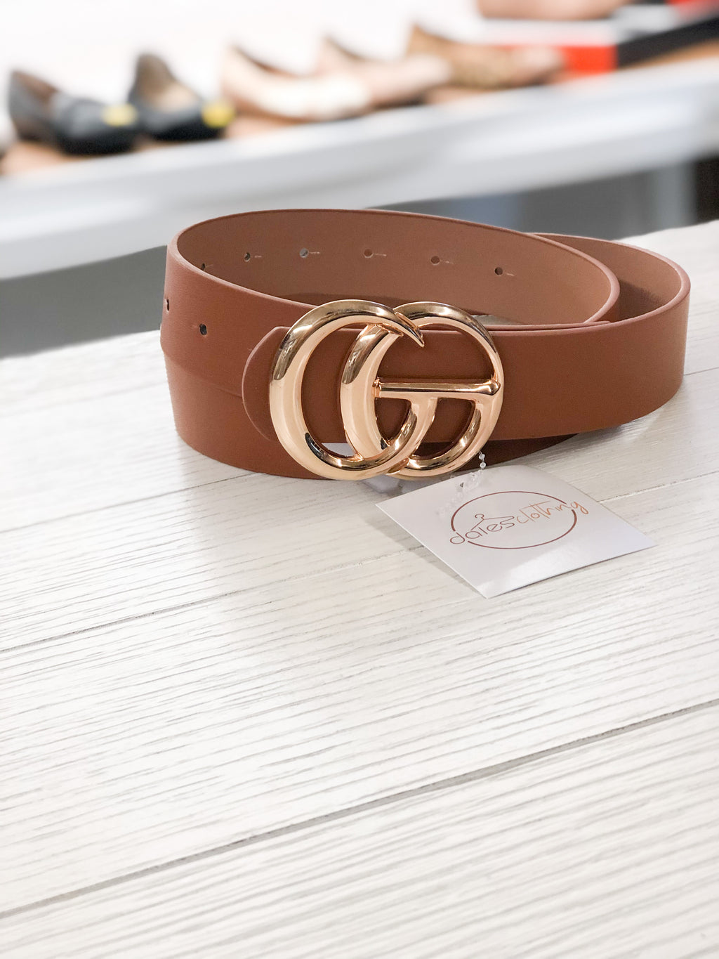 The Gucci Inspired Belt COGNAC