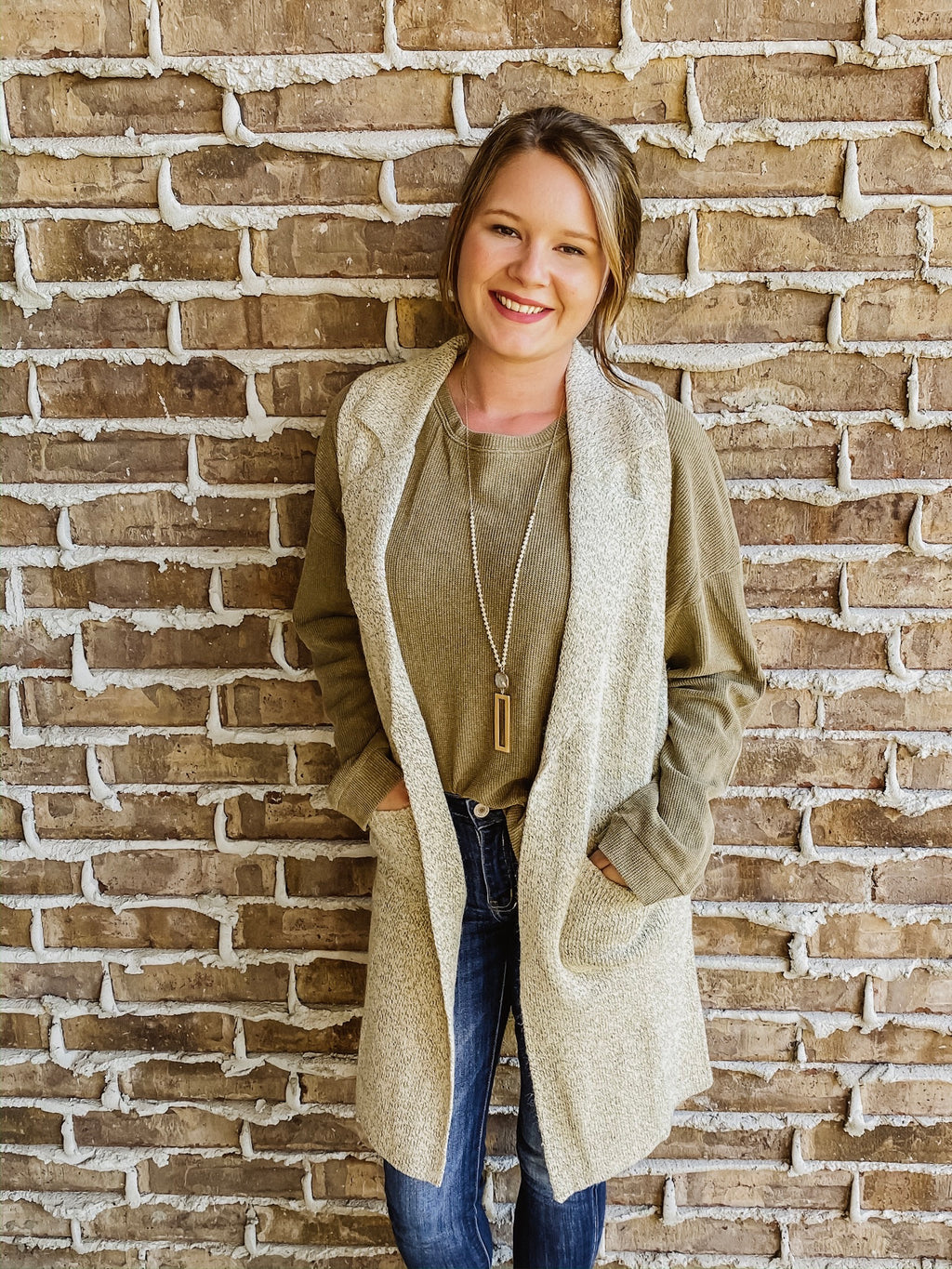 My Way Duster Vest TAUPE