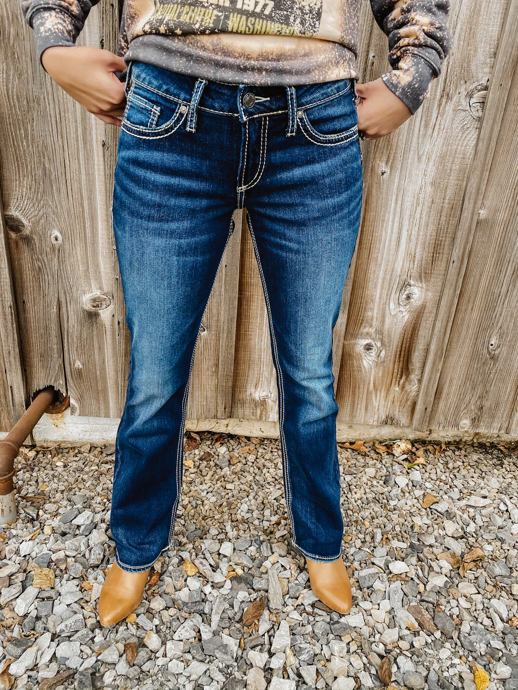"Suki Mid Rise Bootcut Jean By Silver 31"" and 33"""