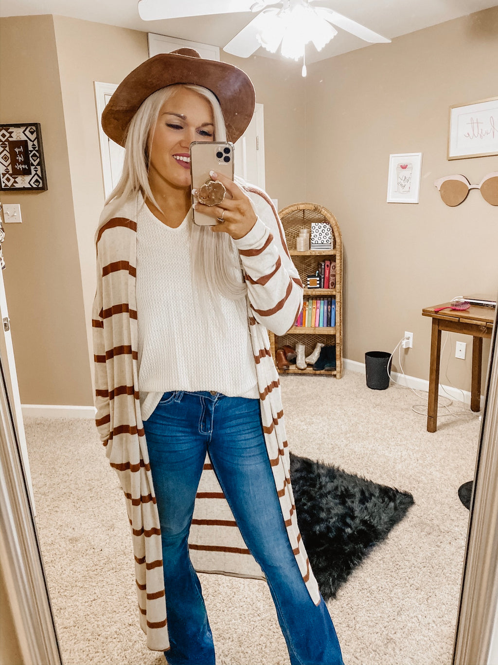 Gone Wild Striped Duster Cardigan