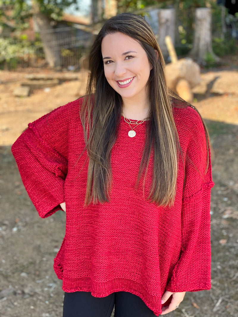The Trendy Scarlet Sweater