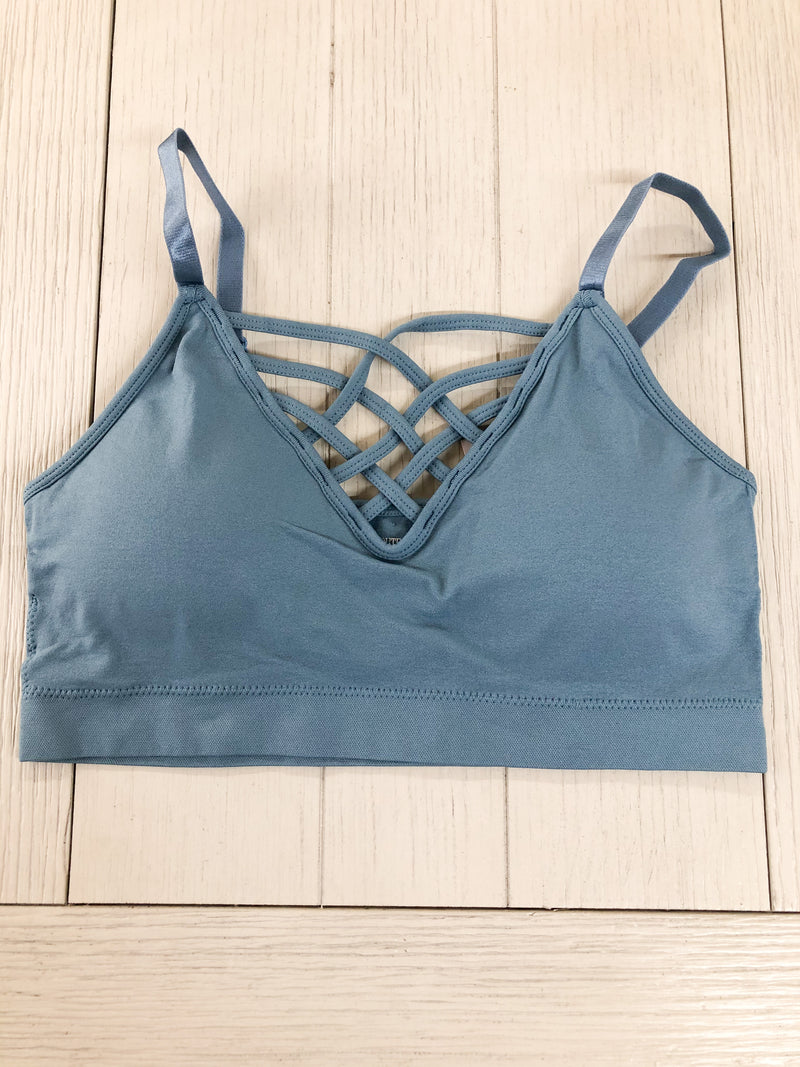 Girl on The Go Bralette BLUE GRY