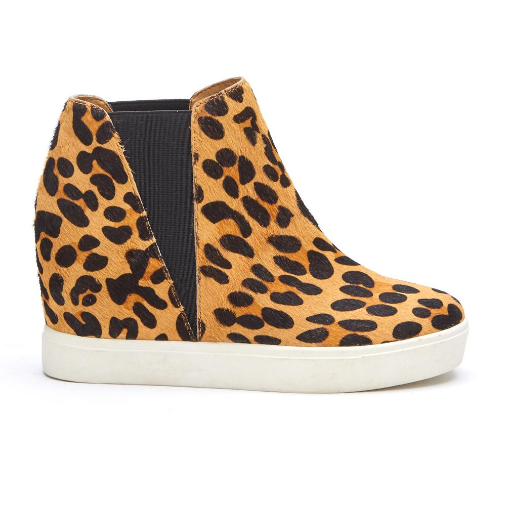 Lure Leopard Wedge Bootie