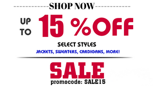 15% off outerwear jackets sweaters cardigans vests faux fur suade coats trench
