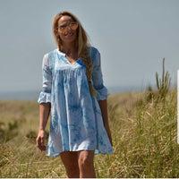 Tie-Die Tunic Top Mini Dress-Tops-Moda Me Couture