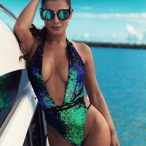 Sequins Swimsuit One Piece | MODA ME COUTURE