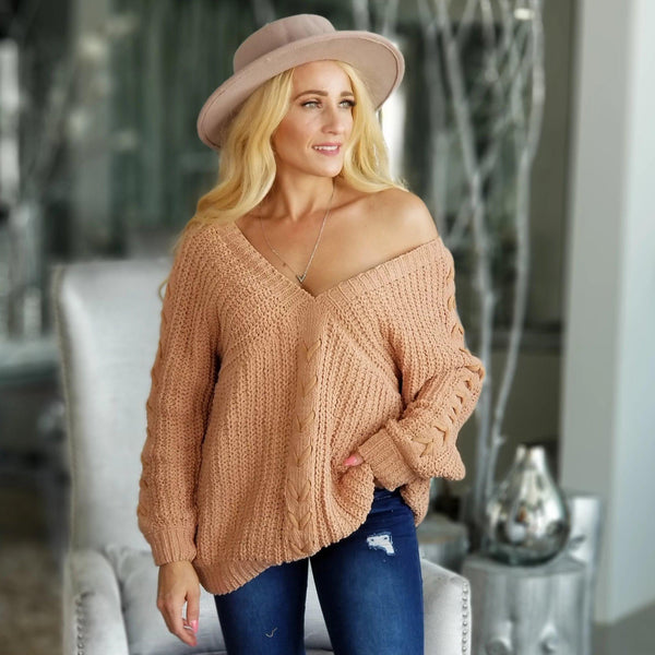 EUNICE Ultra Soft Sweater - Clay