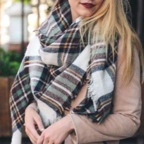 Oversized Blanket Scarf - Multi Color-Accessories-Moda Me Couture