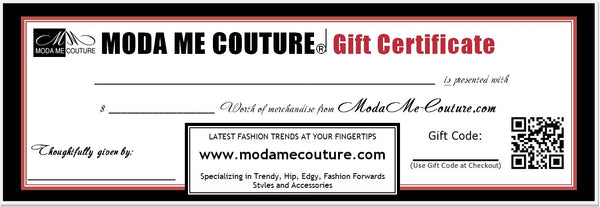 Gift Certificate-Gift-Moda Me Couture