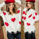 LOVE IS IN THE AIR Sweater - Red