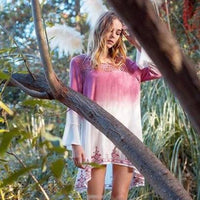 Garden Pink Tunic Dress-Dress-Moda Me Couture