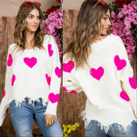 LOVE IS IN THE AIR Sweater -Pink