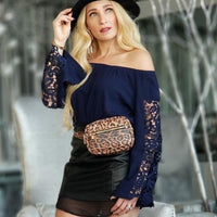 NALANI Off Shoulder Lace Sleeve Top-Tops-Moda Me Couture