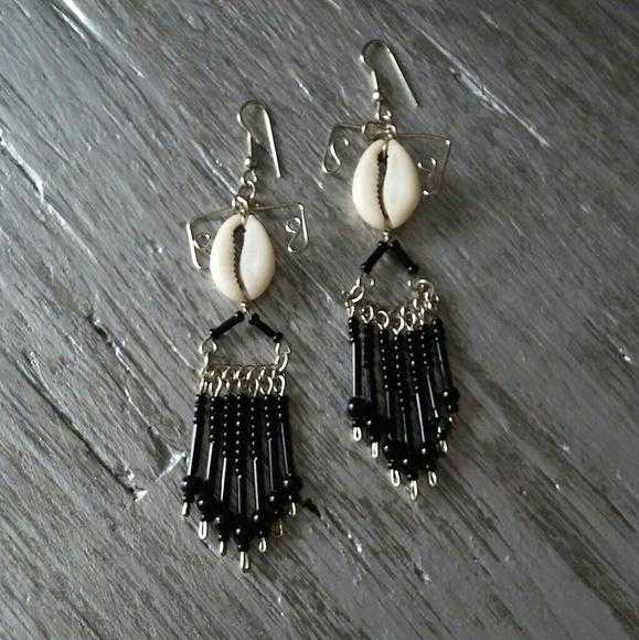 Earrings Boho Beads and Shells-Jewelry-Moda Me Couture