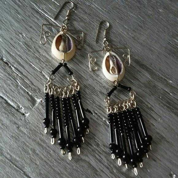 Beads and Shells Boho Earrings | MODA ME COUTURE