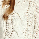 Thick Soft Cable Knot Sweater - Cream-Sweater-Moda Me Couture
