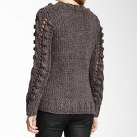 THICK CABLE KNIT SWEATER - PREMIUM | MODA ME COUTURE