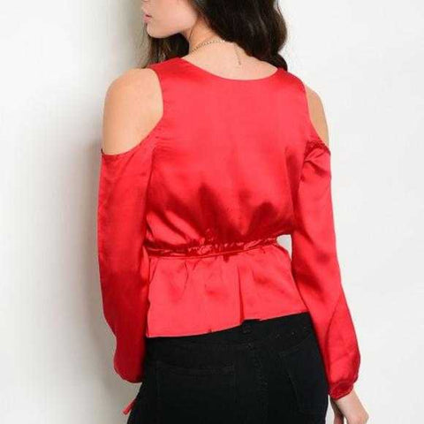 WHEN IN DOUBT WEAR RED CHICK RED TOP - MODA ME COUTURE