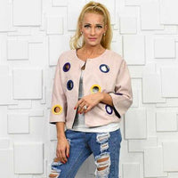 Suede Dusty Pink Eyelet Statement Jacket-Jackets & Coats-Moda Me Couture