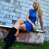 SASSY DRESS - DENIM | MODA ME COUTURE