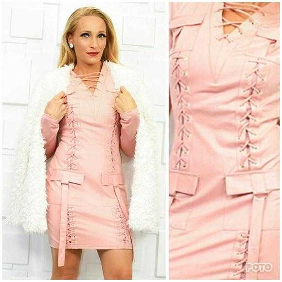 SASSY BLUSH PINK DRESS - MODA ME COUTURE
