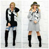 Faux Fur Vest Black & White-Jackets & Coats-Moda Me Couture