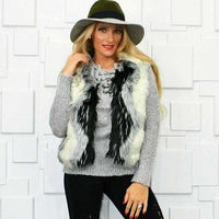 Gorgeous Faux Fur Vest-Jackets & Coats-Moda Me Couture