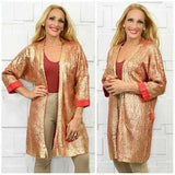 Gold Metallic Knit Cardigan-Sweater-Moda Me Couture