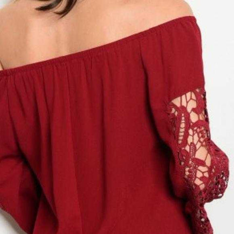 BEAUTIFUL IN BURGUNDY TOP - MODA ME COUTURE