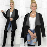 Modern Open Front Jacket-Jackets & Coats-Moda Me Couture