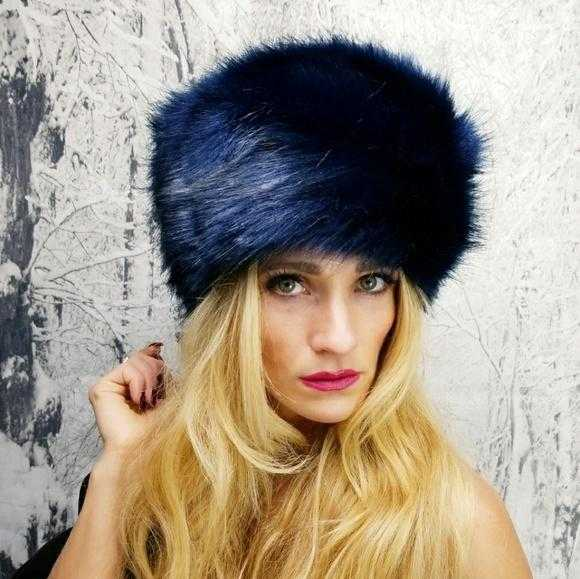 223a0d195a307 ... ROYAL BLUE RUSSIAN FAUX FUR HAT | MODA ME COUTURE