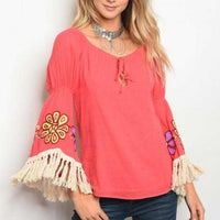 Medow Embroider Top-Tops-Moda Me Couture ®