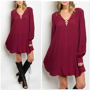 TUNIC DRESS - RED - MODA ME COUTURE
