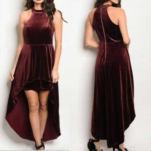 HOLLY Burgundy Velvet dress - MODA ME COUTURE