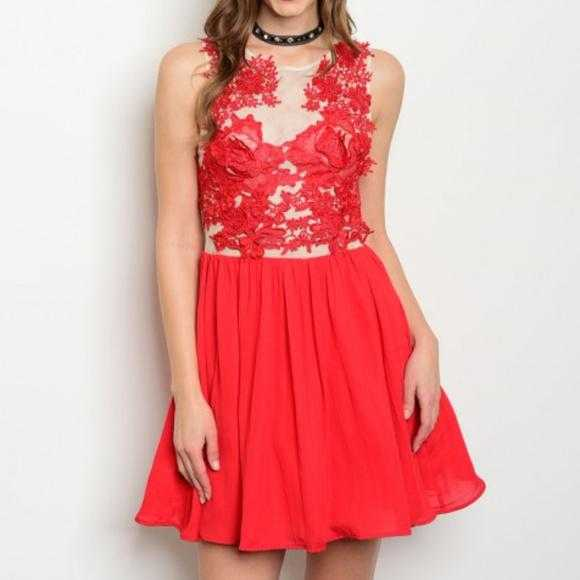 Lady In Red Dress-Dress-Moda Me Couture
