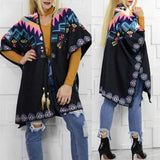 Colorful Poncho Wrap-Sweater-Moda Me Couture