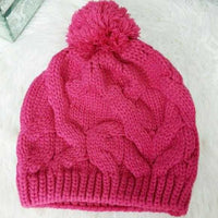 Pink Knitted Beanie-Accessories-Moda Me Couture