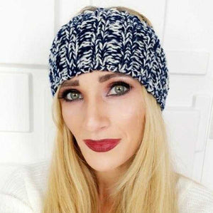 NAVY BLUE KNITTED HEADBAND