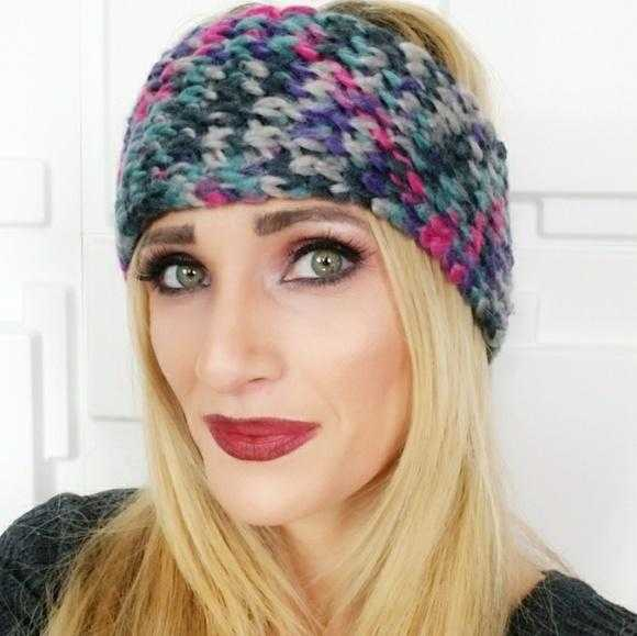 KNITTED HEADBAND multi color