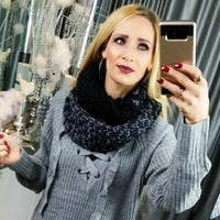 Knitted Infinity Scarf-Accessories-Moda Me Couture