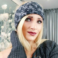 Knitted Headband Black & Gray-Accessories-Moda Me Couture