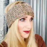 Knitted Headband Tan Multi Color-Accessories-Moda Me Couture