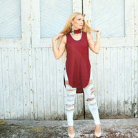 Amore Burgundy Choker Top-Tops-Moda Me Couture ®