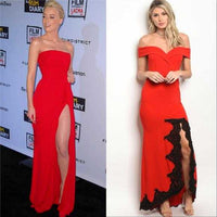Red Formal Gown Dress-Dress-Moda Me Couture