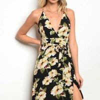 Chic Maxi Floral Print Dress-Dress-Moda Me Couture